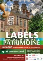 Colloque des labels dans le domaine du patrimoine - Orléans, décembre 2016